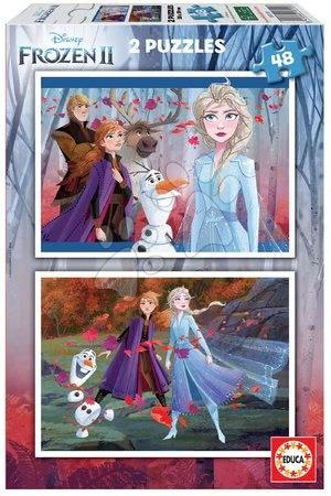 Gyerek puzzle 8 - 99 darabos - Puzzle Frozen 2 Disney Educa 2x48