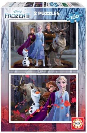 Dětské puzzle od 100–300 dílků - Puzzle Frozen 2 Disney Educa 2 x 100 dílků od 6 let