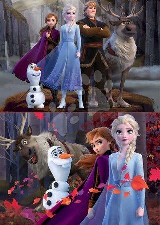 Dětské puzzle od 100–300 dílků - Puzzle Frozen 2 Disney Educa 2 x 100 dílků od 6 let_1