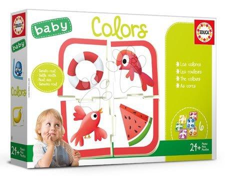 Puzzle pentru copii  - Joc educativ pentru cei mai mici Baby Colours Educa Învăţăm culorile de la vârsta de 24 de luni EDU18119