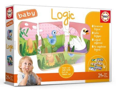 Puzzle pentru copii  - Joc educativ pentru cei mai mici Baby Logic Educa Învăţăm logica de la vârsta de 24 de luni EDU18120