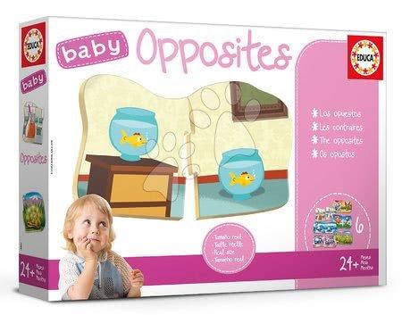 Puzzle pentru copii  - Joc educativ pentru cei mai mici Baby Opposites Educa Căutăm opoziţiile de la vârsta de 24 de luni EDU18122