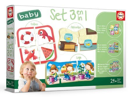 Puzzle pentru copii  - Joc educativ pentru cei mai mici Baby Colours&Form&Opposites Educa Învăţăm culorile, formele şi opoziţiile de la vârsta de 24 de luni