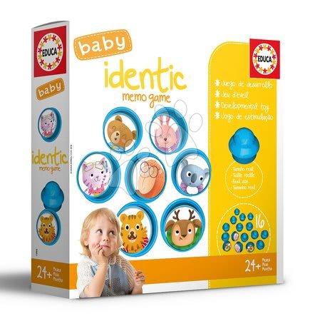 Naučná hra pro nejmenší Baby Identic Memo Game Educa Pexeso zvířátka v houbičkách od 24 měsíců
