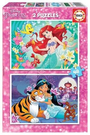 Princese - Puzzle Ariel a Jasmin Educa 2x48 dielov EDU18213