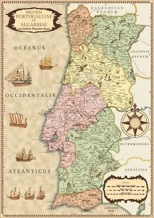 500 delne puzzle - Puzzle zgodovinski zemljevid Portugalske Educa 500 delov in Fix lepilo od 11 leta_1