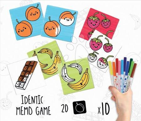 Spoločenské hry - Pexeso vymaľovánky Predmety Colouring Activities v kufríku Educa 18 dielov - maľované s fixkami_1