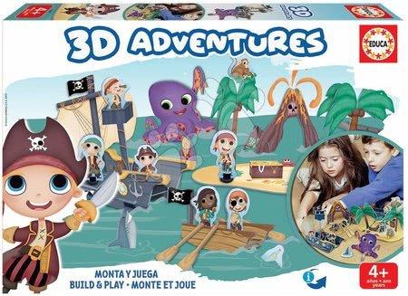 Puzzle dobrodružství 3D Piráti Educa od 4 let