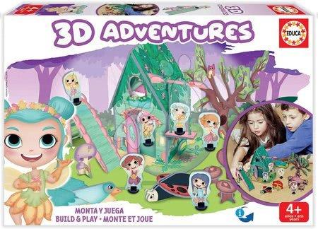 Puzzle dobrodružství 3D Lesní princezny Educa od 4 let