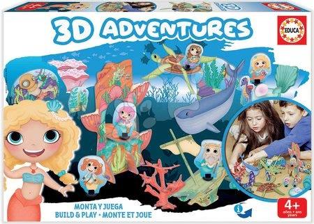 Puzzle kalandok 3D Tengeri hercegnők Educa 4 évtől