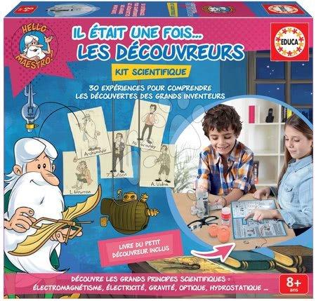Jocuri de societate - Joc de societate Hello Maestro Educa Inventatori și cercetători în franceză de la 8 ani