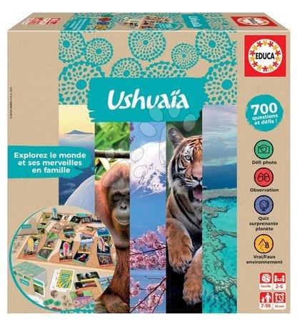 Spoločenské hry - Spoločenská hra Jeu Ushuaia Junior Educa po francúzsky pre 2-6 hráčov 700 otázok od 7 rokov