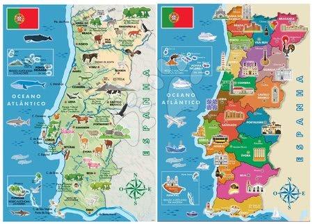 Dětské puzzle od 100–300 dílků - Puzzle Distritos Mapa Portugalska Educa 2 x 100 dílků od 6 let_1