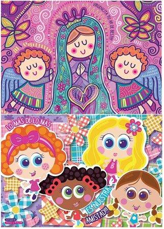 Dětské puzzle od 100–300 dílků - Puzzle Dětičky a Andělé Educa 2 x 100 dílků od 6 let_1