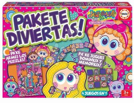 Progresivní dětské puzzle - Puzzle, domino a pexeso Distroller Disney Superpack Educa