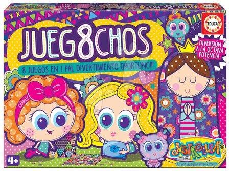 Spoločenské hry - Detské spoločenské hry Distroller 8v1 Special set Educa od 4 rokov v angličtine