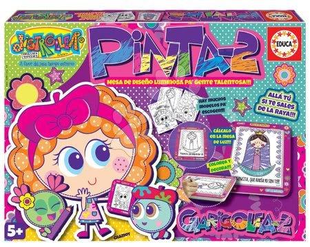 Educa - Kreativní hra kreslení Pinta-2 Educa s předlohami a podložkou od 5 let španělsky