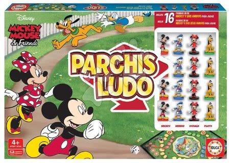 Družabne igre - Družabna igra Parchis Mickey Disney Educa Človek, ne jezi se s 16 figuricami od 4 leta v španščini