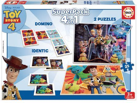 Puzzle, domino a pexeso Toy Story Disney Superpack Educa
