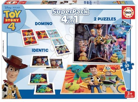 Toy Story - Puzzle, domino a pexeso Toy Story Disney Superpack Educa
