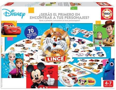Spoločenské hry - Spoločenská hra Le Lynx Disney 70 obrázkov vo francúzštine Educa od 4 rokov