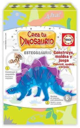 Ustvarjalna igra Izdelaj svojega dinozavra Stegozavra Educa od 6 leta