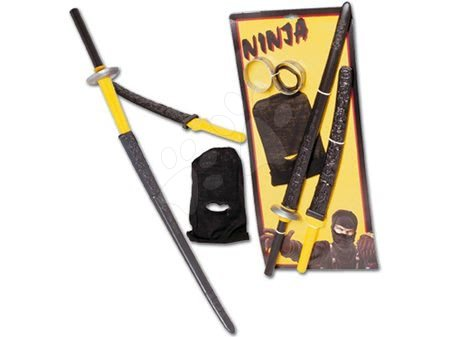 Ninja sada Dohány černo-žluté zbraně a kukla