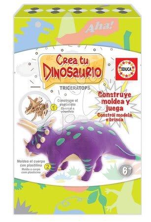 Ustvarjalna igra Izdelaj svojega dinozavra Triceratops Educa od 6 leta