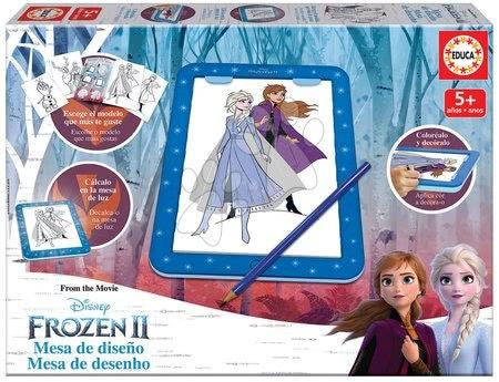 Kreslení Frozen 2 Disney tablet Educa s předlohami a doplňky pro děti od 5 let