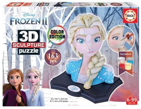 Puzzle - Kiparske puzzle 3D Sculpture - Frozen 2 Disney Color edition 163 delčkov od 6 leta