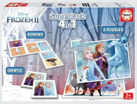 Superpack 4v1 Frozen 2 Disney Educa puzzle, domino a pexeso
