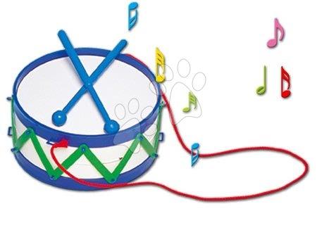 Detské hudobné nástroje - Bubon Dohány s paličkami modrý