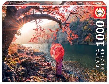 1000 darabos puzzle - Puzzle Sunrise in Katsura River Japan Educa 1000 darabos és Fix puzzle ragasztó 11 évtől