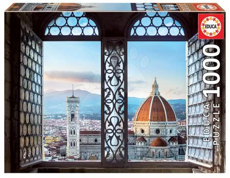 Puzzle 1000 dílků - Puzzle Views of Florence Italy Educa 1000 dílků a Fix lepidlo od 11 let