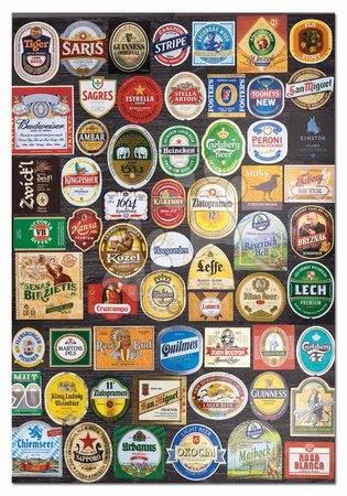 1500 darabos puzzle - Puzzle Beer labels Collage Educa 1500 darabos és Fix puzzle ragasztó 11 évtől_1