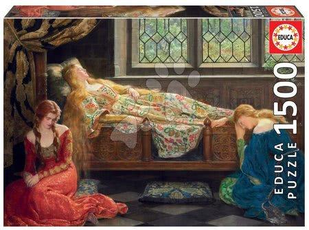 1500 darabos puzzle - Puzzle Sleeping Beauty Educa 1500 darabos és Fix puzzle ragasztó 11évtől
