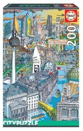 Dětské puzzle od 100–300 dílků - Puzzle Berlin Citypuzzles Carlo Stanga Educa 200 dílků – ilustrátor od 8 let