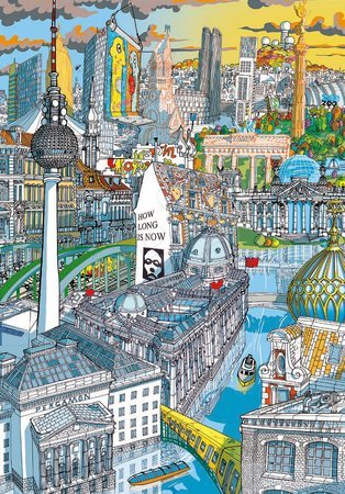 Dětské puzzle od 100–300 dílků - Puzzle Berlin Citypuzzles Carlo Stanga Educa 200 dílků – ilustrátor od 8 let_1