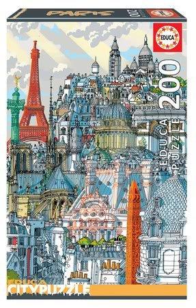Dětské puzzle od 100–300 dílků - Set Puzzle Citypuzzles Carlo Stanga Educa 6 x 200 dílků – Rome, Berlin, London, Paris, New York, Barcelona ilustrátor od 8 let_1