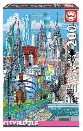 Dětské puzzle od 100–300 dílků - Puzzle New York Citypuzzles Carlo Stanga Educa 200 dílků – ilustrator od 8 let