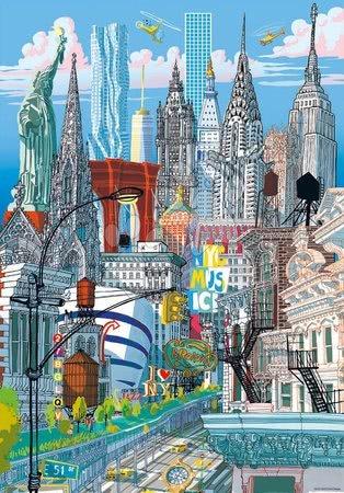Dětské puzzle od 100–300 dílků - Puzzle New York Citypuzzles Carlo Stanga Educa 200 dílků – ilustrator od 8 let_1