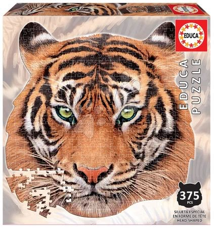 Puzzle Tiger face shape Educa 375 dílků a Fix lepidlo od 11 let
