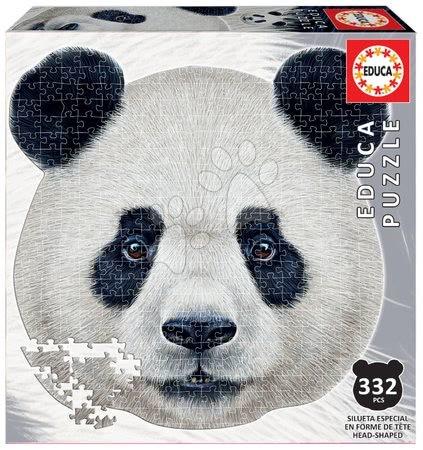 Puzzle 500 dílků - Puzzle Panda face shape Educa 332 dílků a Fix lepidlo od 11 let