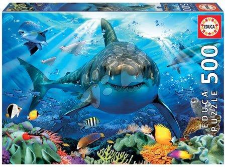 Puzzle 500 dílků - Puzzle Great White Shark Educa 500 dílků a Fix lepidlo od 11 let