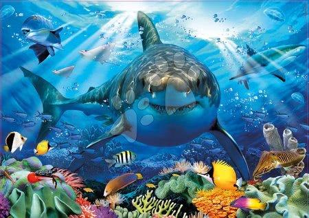 Puzzle 500 dílků - Puzzle Great White Shark Educa 500 dílků a Fix lepidlo od 11 let_1