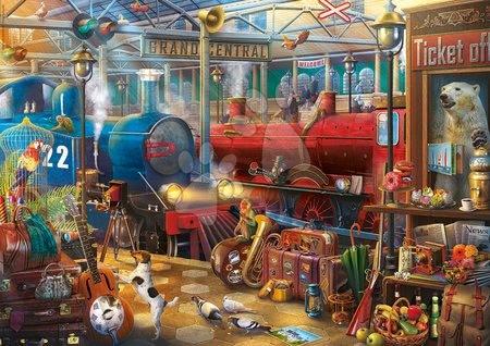 Puzzle 500 dílků - Puzzle Train Station Mysterious Educa 500 dílků a Fix lepidlo od 11 let_1