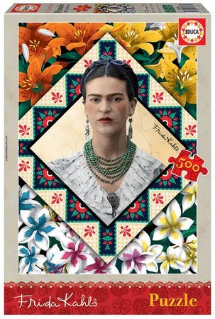 Puzzle 500 dílků - Puzzle Frida Kahlo Educa 500 dílků a Fix lepidlo od 11 let