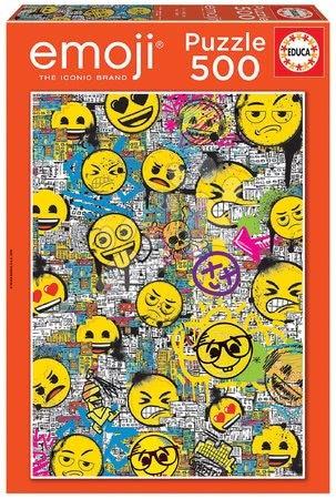 Puzzle 500 dílků - Puzzle Emoji Graffiti Educa 500 dílků a Fix lepidlo od 11 let