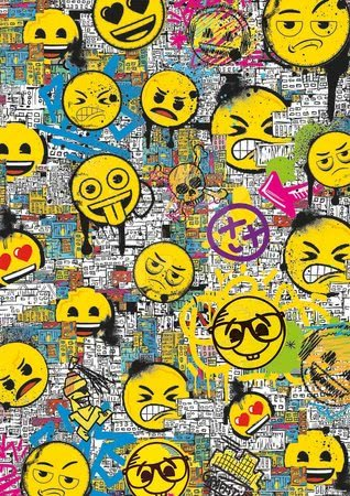 Puzzle 500 dílků - Puzzle Emoji Graffiti Educa 500 dílků a Fix lepidlo od 11 let_1