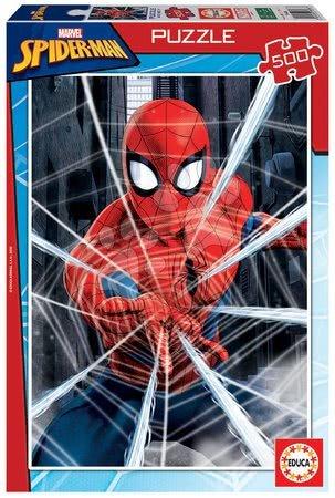 Spiderman - Puzzle Spiderman Educa 500 piese și lipici Fix de la 11 ani